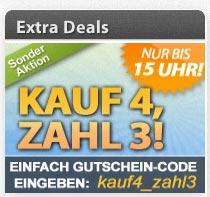 DailyDeal Aktion: Kauf 4, Zahl 3 - nur bis 15 Uhr - Deals noch günstiger!